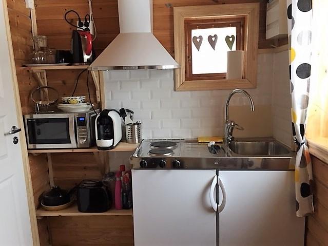 Kitchenette in year-around-cottage