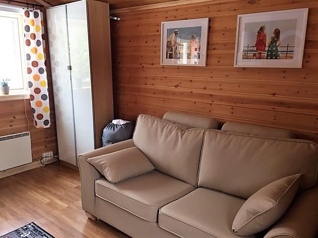 Sofa in year-around-cottage