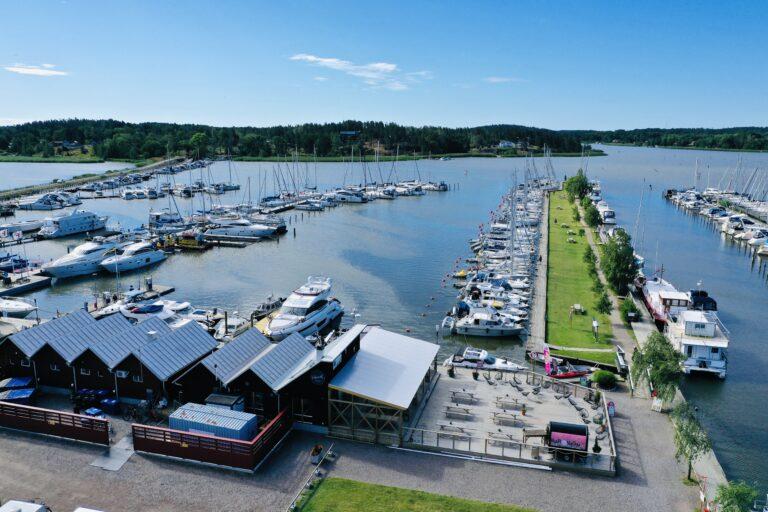 Trosa Gästhamn från ovan/Trosa guest harbor from above